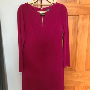 Vince Camuto Long Sleeve Fuschia Dress